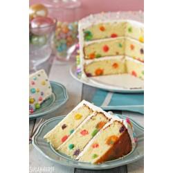 Mavrična pikčasta torta
