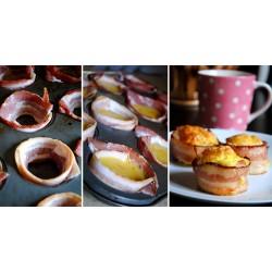 Ameriški zajtrk - skodelice iz slanine in jajc