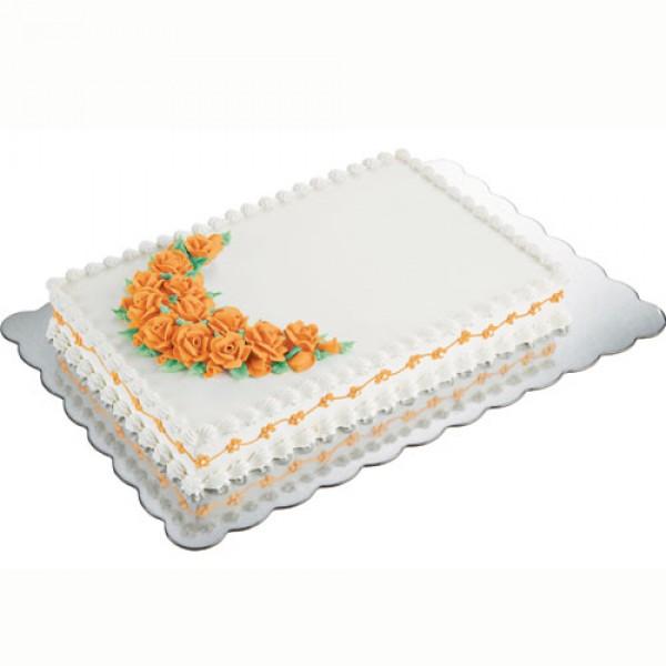 Podstavek za torto 32,5 x 47,5 cm srebrn