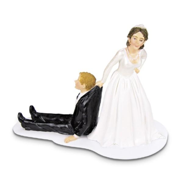 Dekoracija za torto - poročni par (humor)
